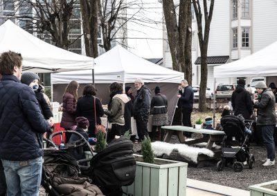 Mat- og håndverksmarked på Teaterplassen (foto: Mona Hauglid)